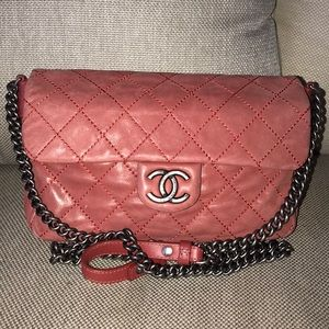Auth CHANEL 31 Rue Cambon Wild Stitch Flap Bag